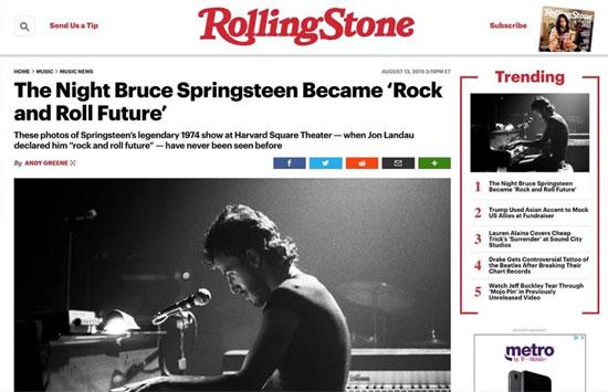 Backstreets com: Springsteen News